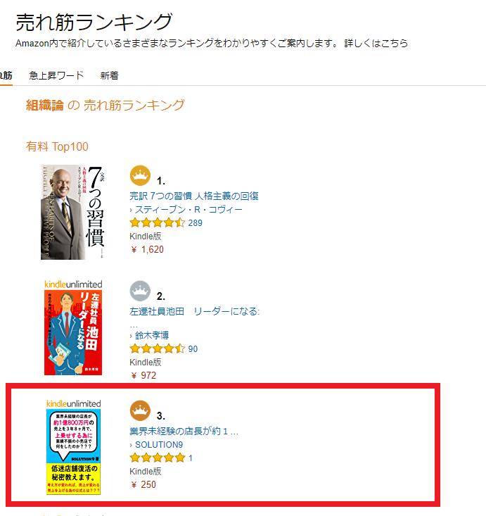 経営・経済カテゴリー 有料TOP100 Amazonランキング3位